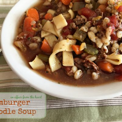 Hamburger Soup with or without Noodles