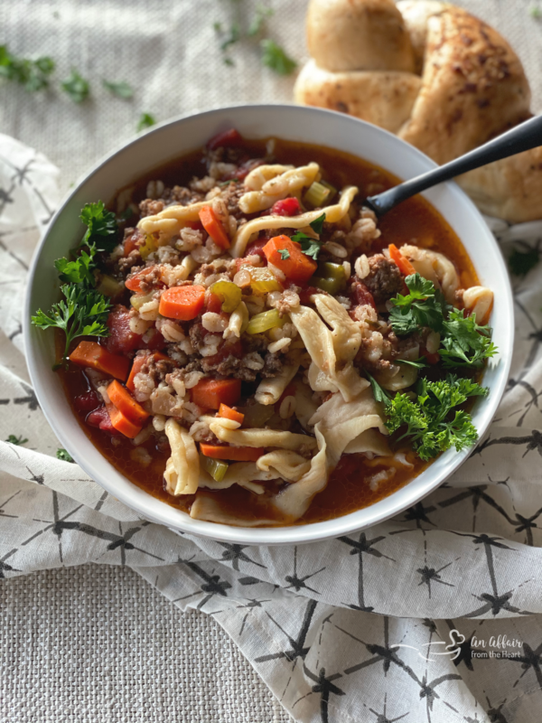 Hamburger Soup With Or Without Noodles Just Like Grandma Made
