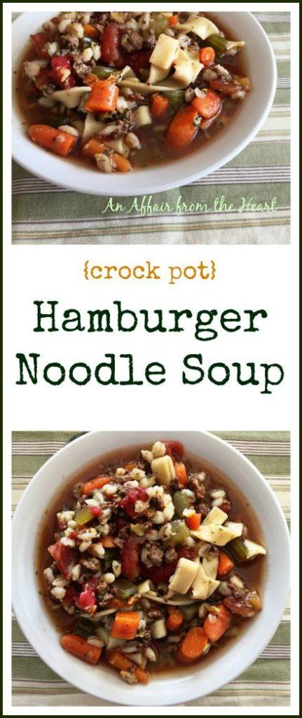 Hamburger Noodle Soup