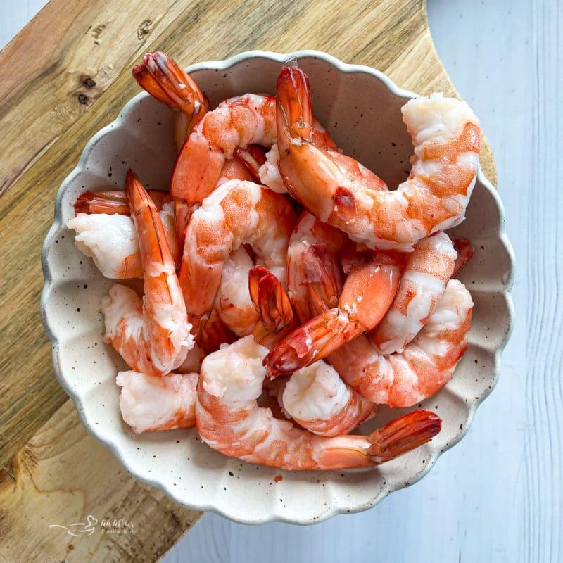 one bowl of shrimp