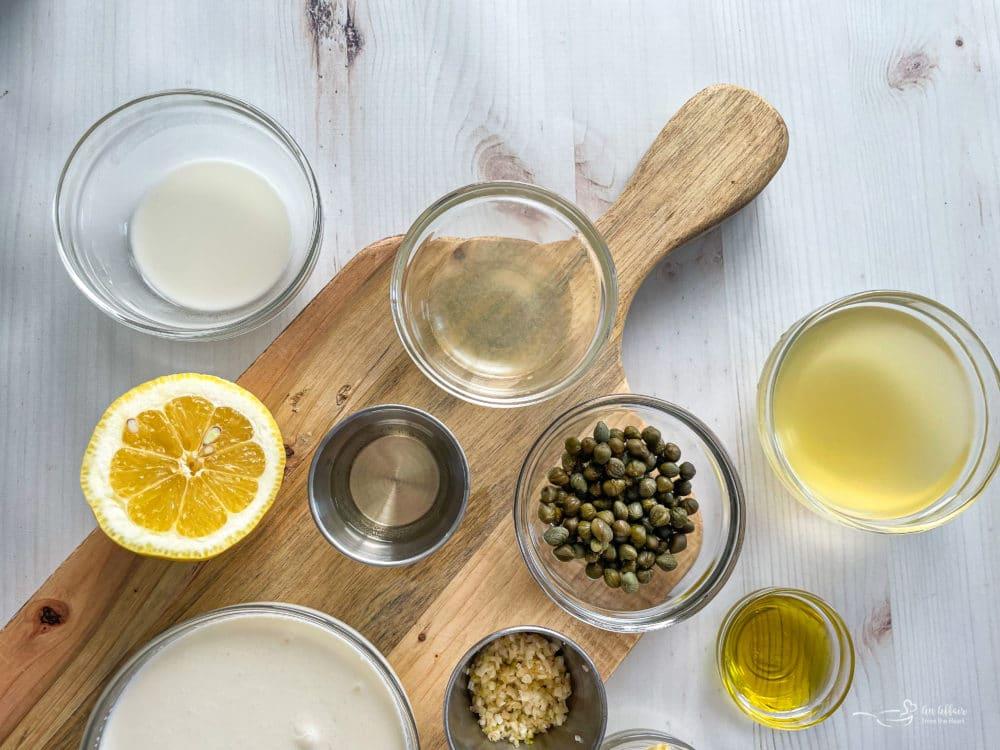 ingredients for lemon caper sauce