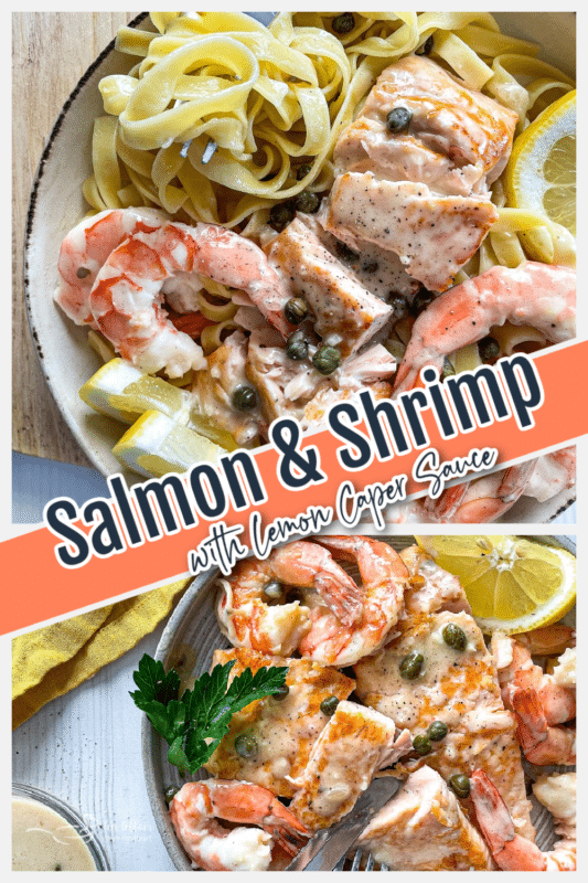 graphic for salmon with lemon caper sauce