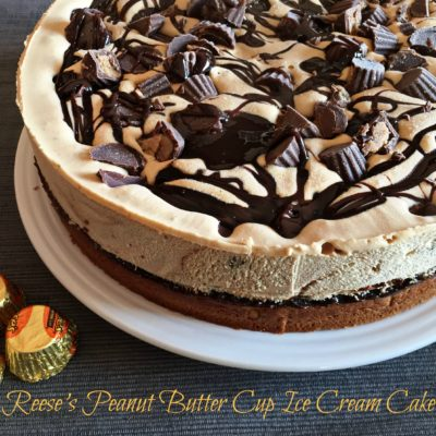 Reese's Peanut Butter Cup Ice Cream Cake