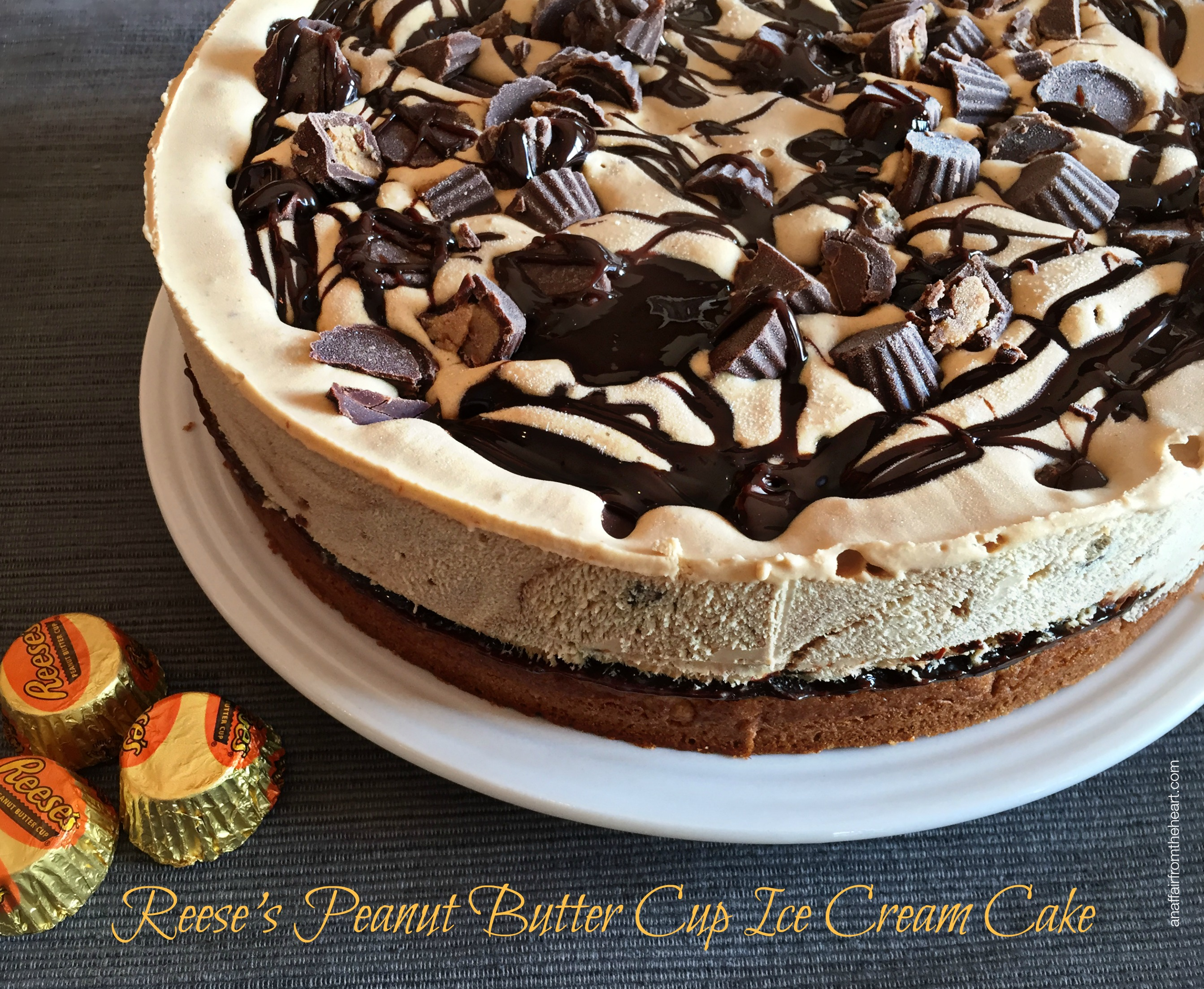Reese's Peanut Butter Cup Ice Cream Cake | An Affair from the Heart