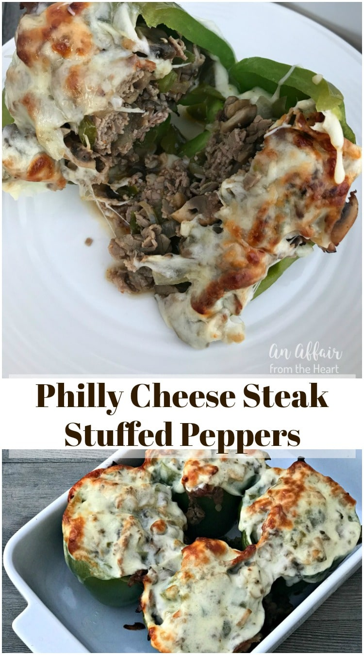 Philly Cheese Steak Stuffed Peppers - An Affair from the Heart