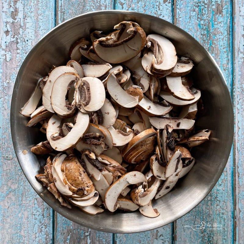sliced mushrooms in a bowl