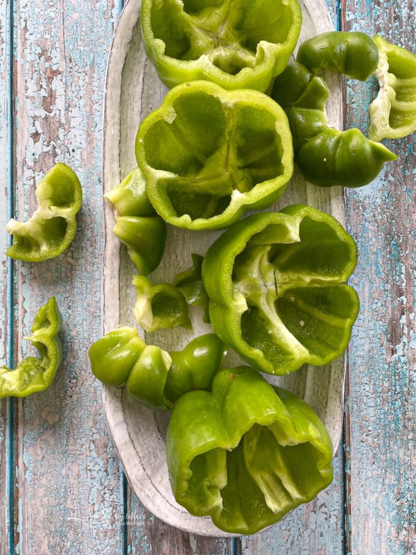 Green Peppers on a plate