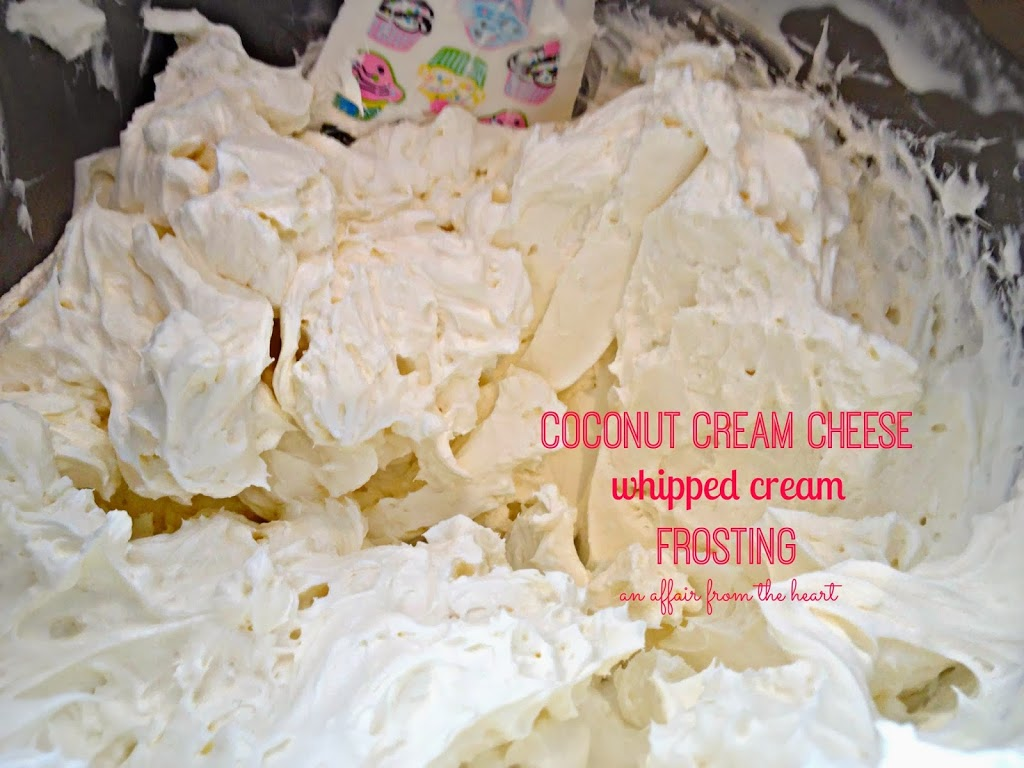 Coconut Cream Cheese Whipped Cream Frosting