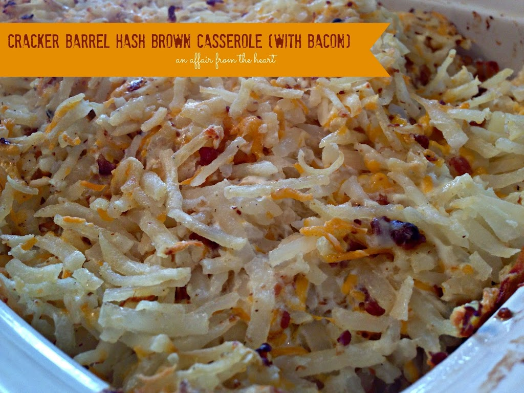 copy cat cracker barrel hash brown casserole with bacon