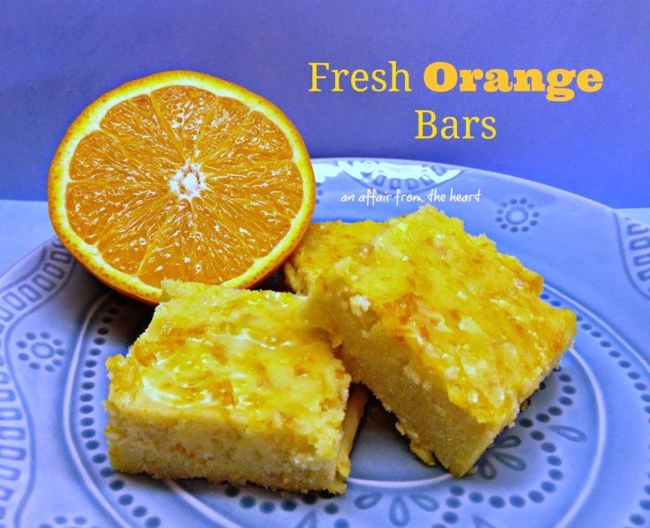 Fresh Orange Bars