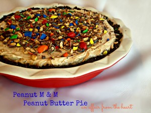 Peanut M&M Peanut Butter Pie
