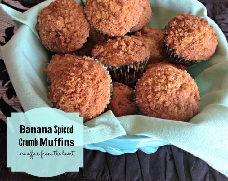 Banana Spiced Crumb Muffins