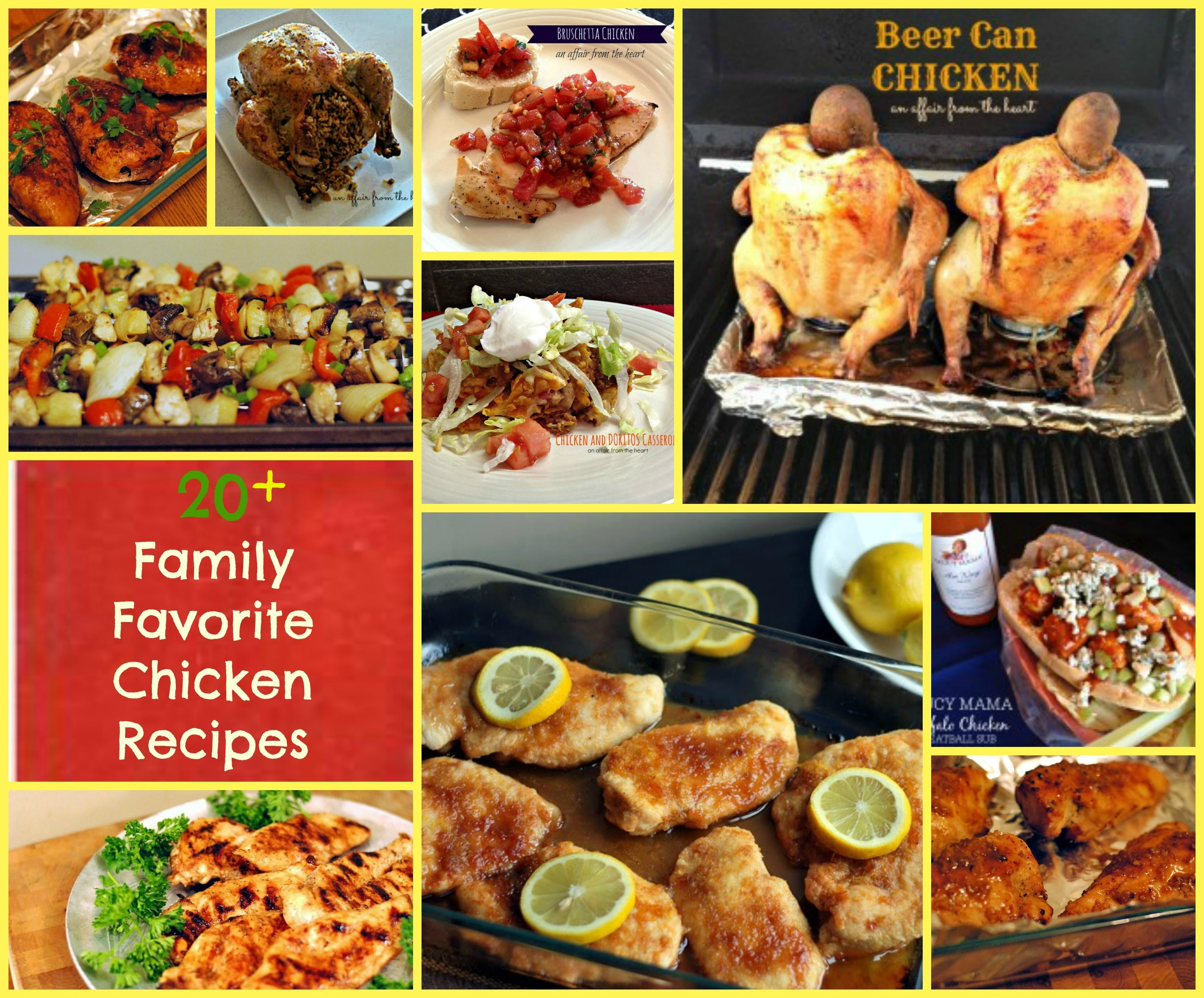 20+ family favorite chicken recipes