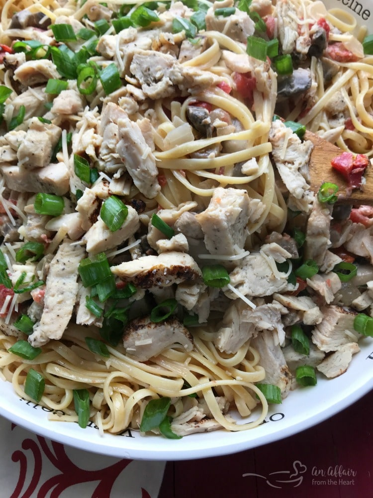 Southwest Chicken Linguine - An Affair from the Heart