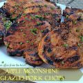 pple moonshine glazed pork chops
