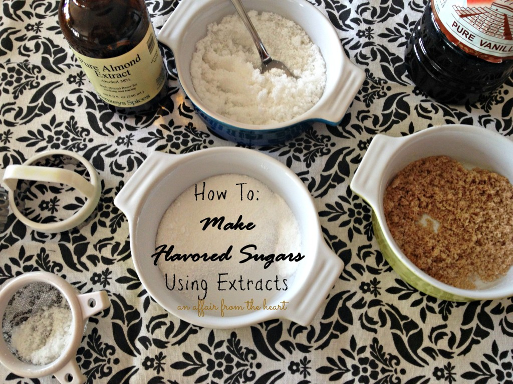 how to flavor sugar using extracts