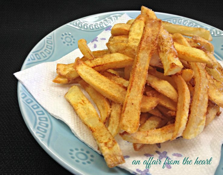 Homemade {double fried} French Fries