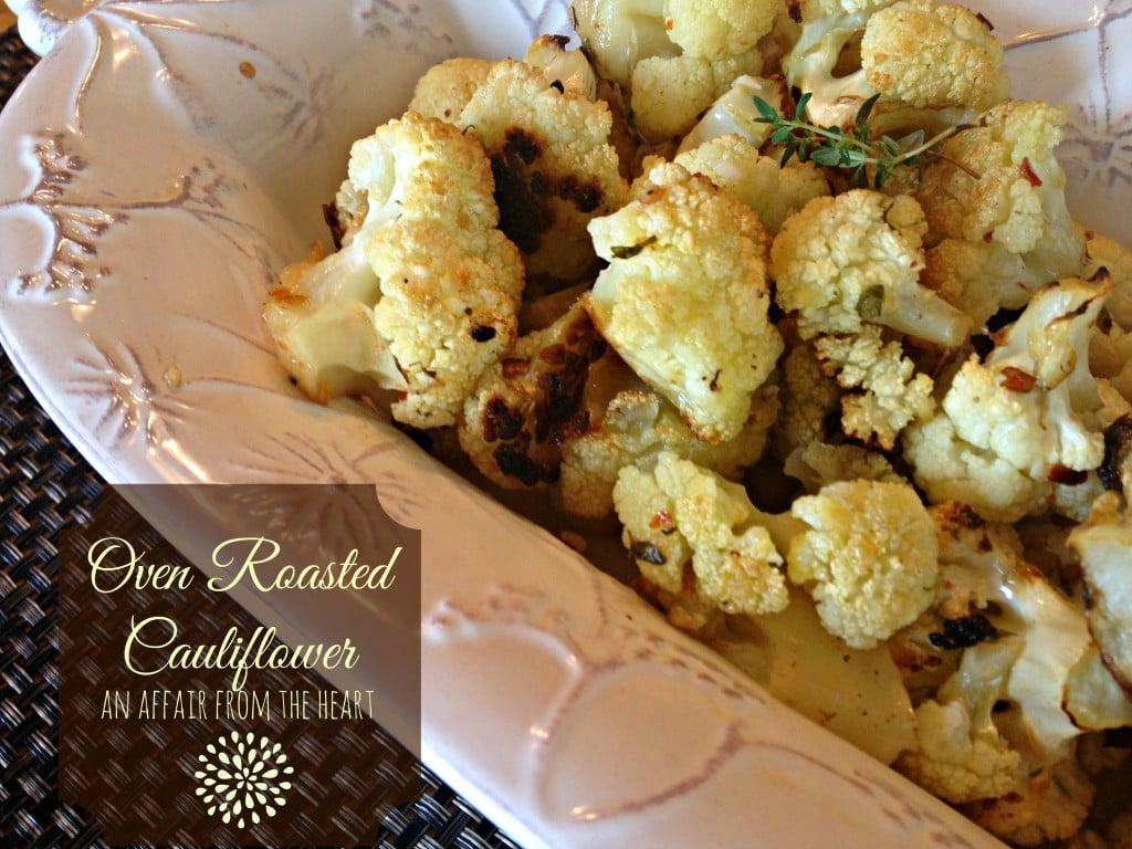 oven roasted cauliflower