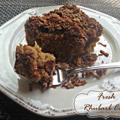 Fresh Rhubarb Cake
