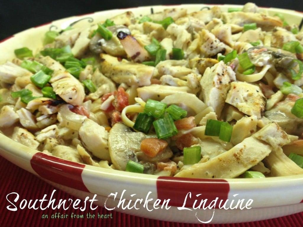 southwest chicken linguine