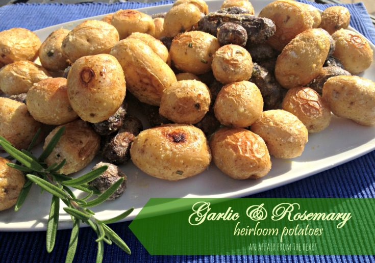 Garlic & Rosemary Heirloom Potatoes