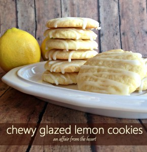 chewy glazed lemon cookies | An Affair from the Heart