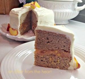 peaches & cream spice cake