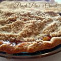 spiced peach pie with crumb topping