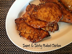 sweet & sticky baked chicken
