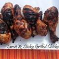 sweet & sticky grilled chicken