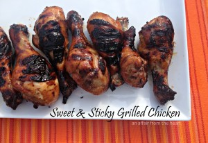sweet & sticky grilled chicken