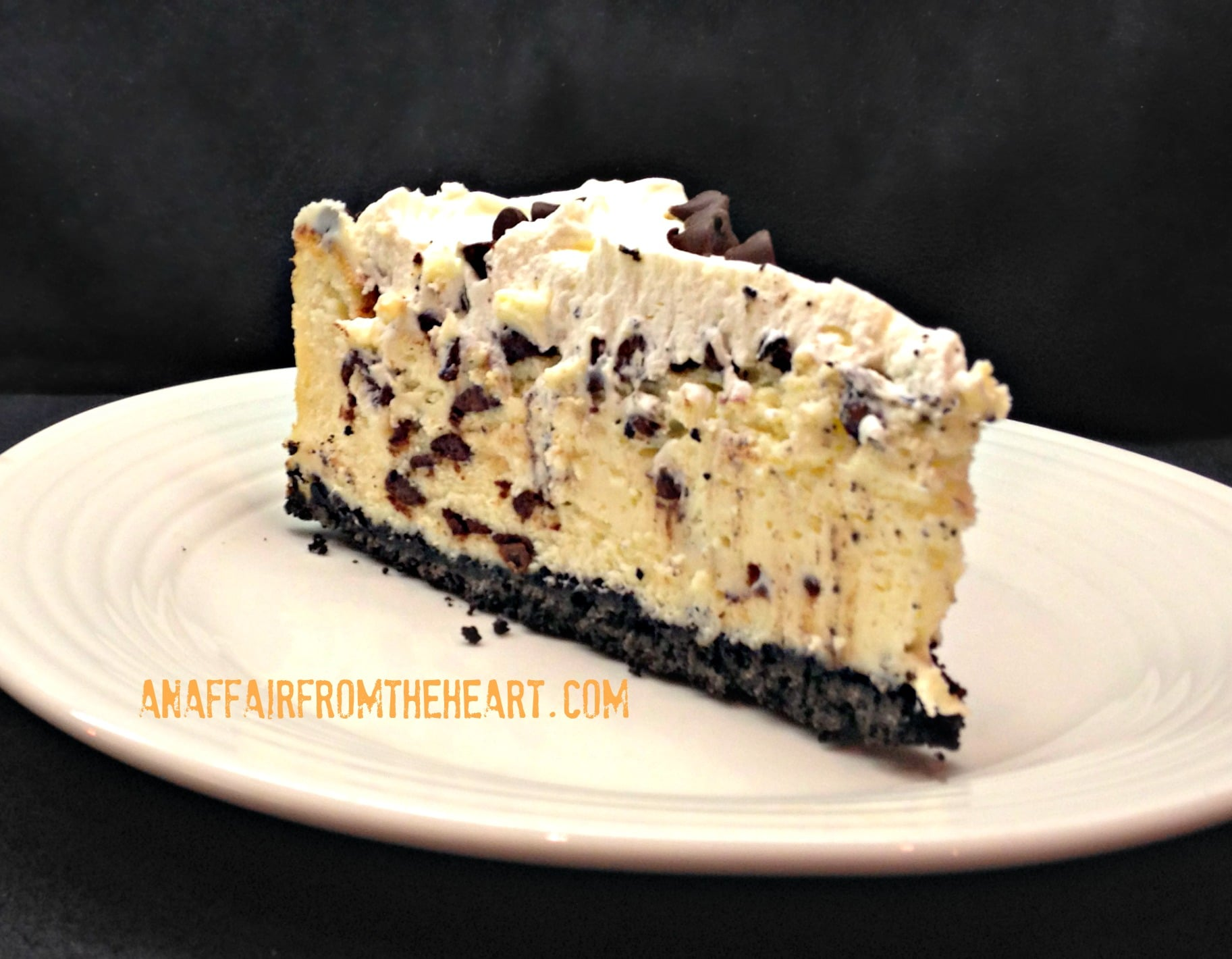 Chocolate Chip Cheesecake | An Affair from the Heart