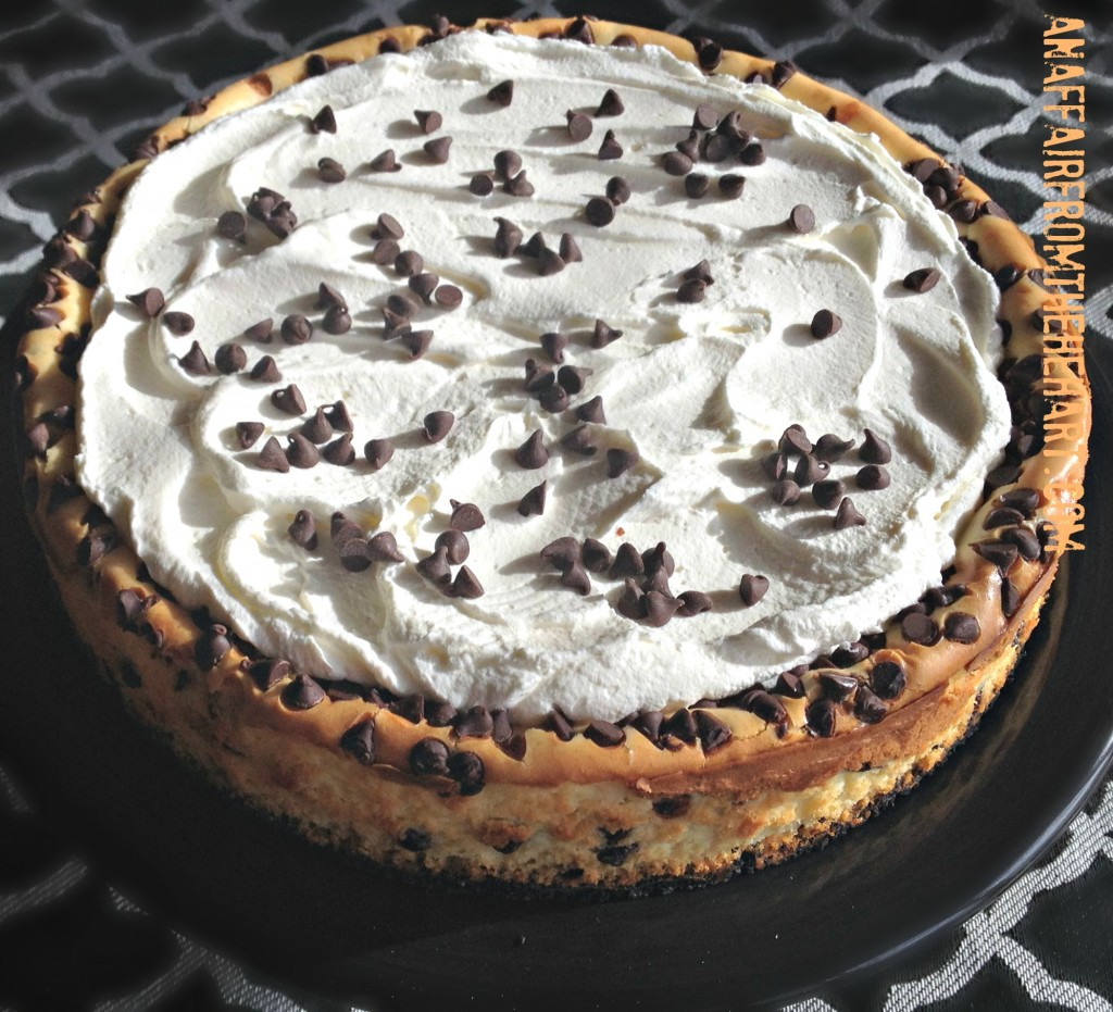chocolate chip cheesecake topping