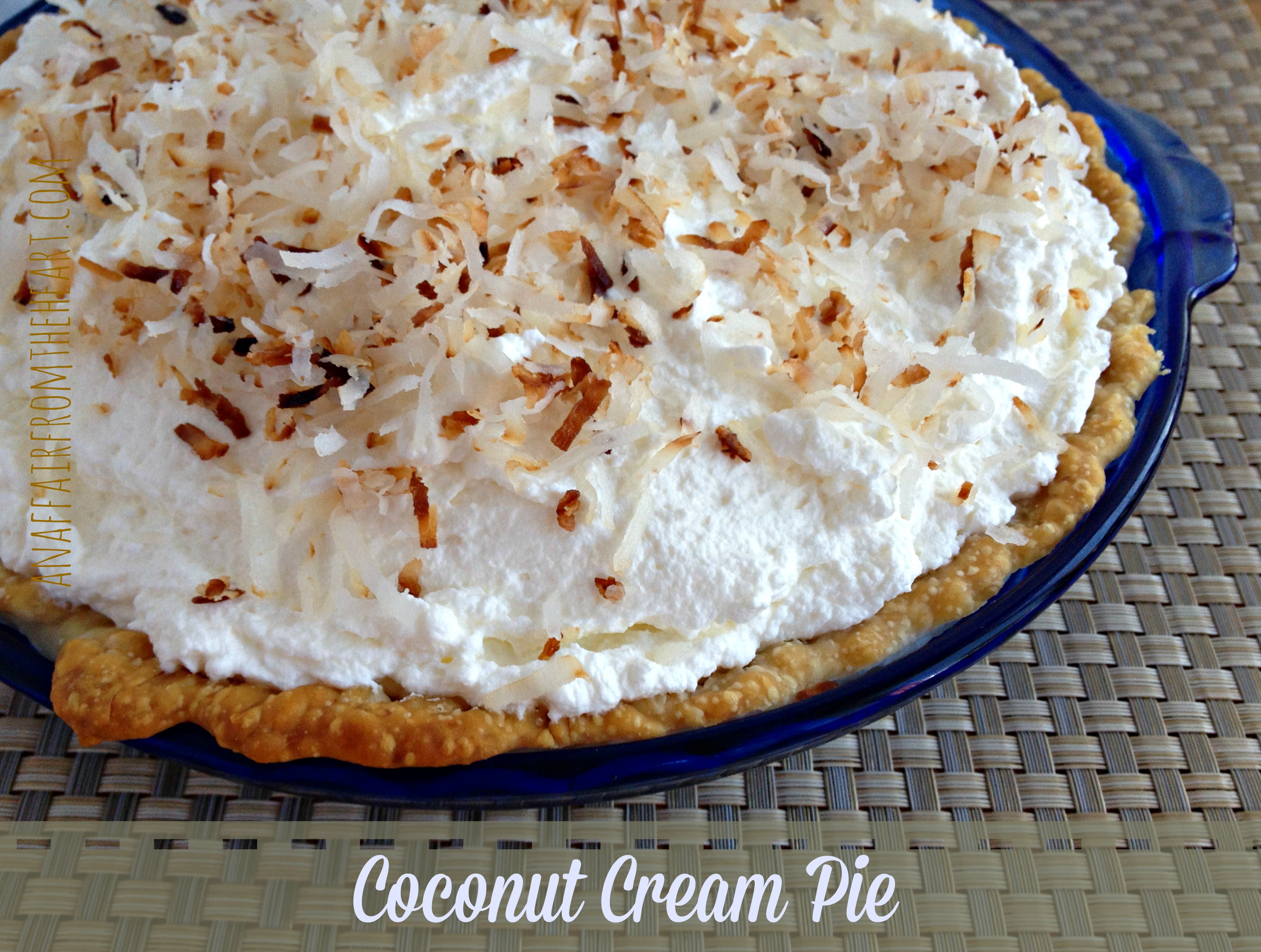 Coconut Custard Pie forecasting