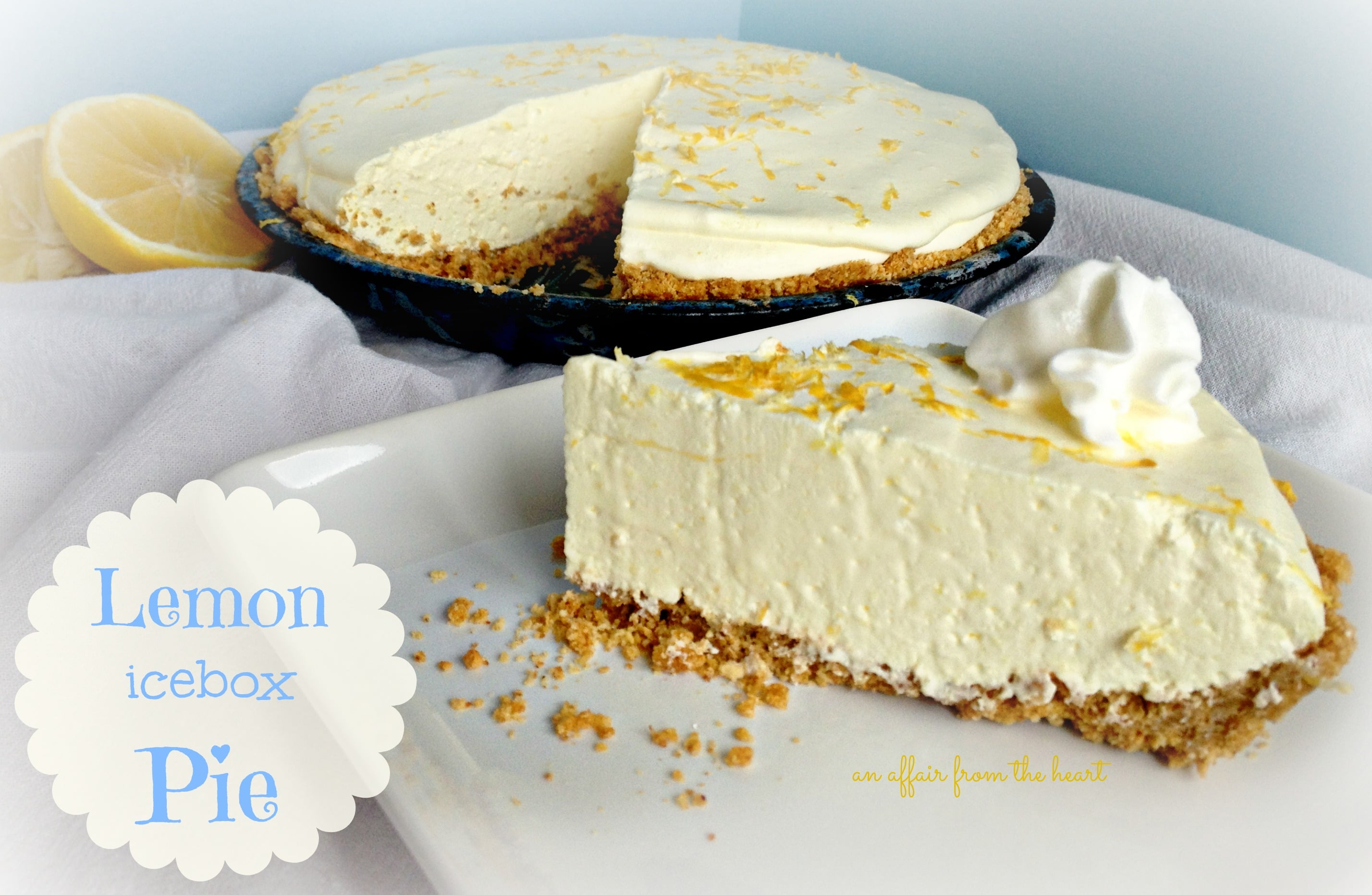 Simple Lemon Icebox Pie Easy No Bake 4 Ingredient Dessert
