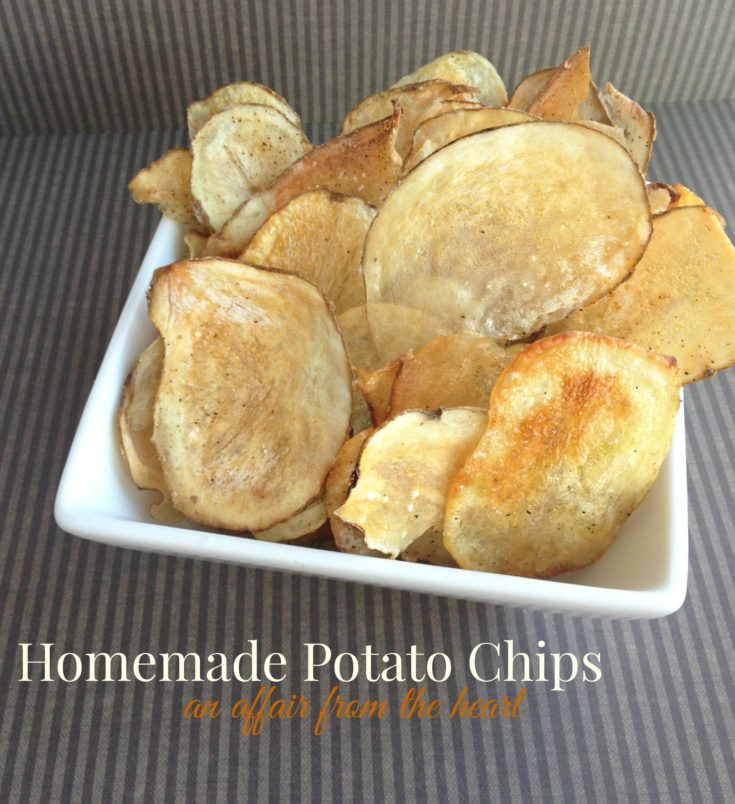 Homemade {baked} Potato Chips