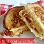 apple bbq pork & smoked gouda grilled cheese