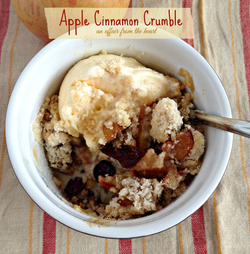 Apple & Cinnamon Crumble | An Affair from the Heart