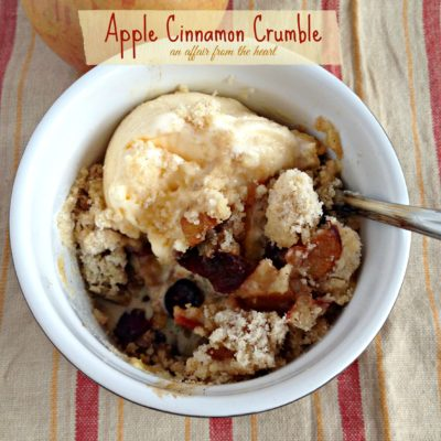 Apple & Cinnamon Crumble