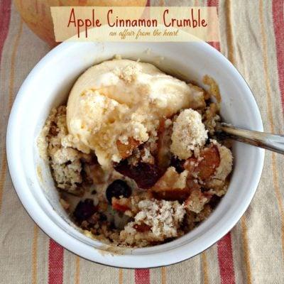 Apple & Cinnamon Crumble