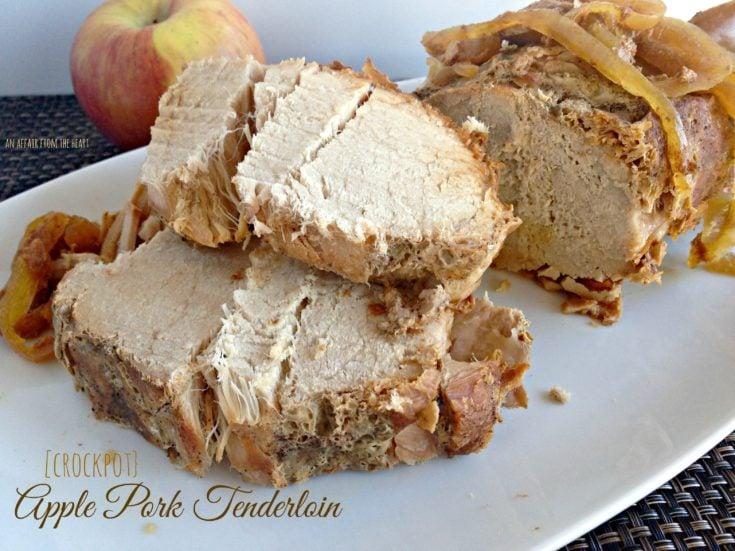 Apple Pork Tenderloin {in the crock pot}