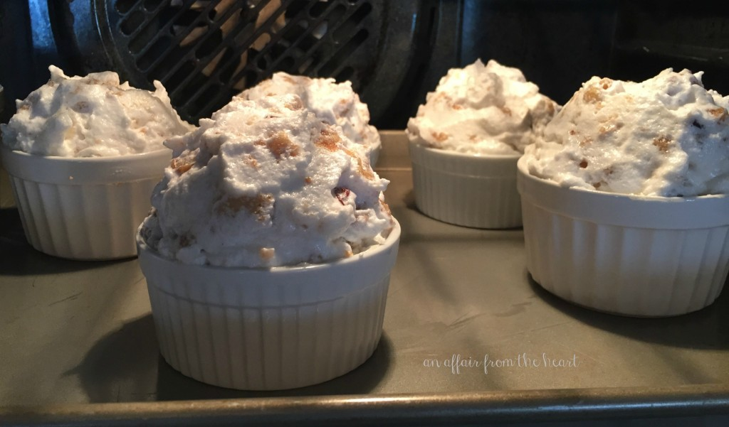 Bread Pudding Soufflé with Whiskey Sauce