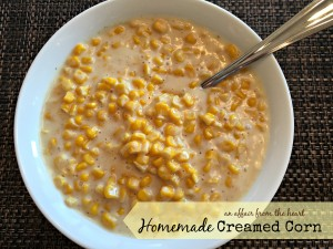 homemade creamed corn