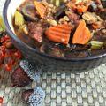 Vegetable Beef, Barley & Mushroom Soup