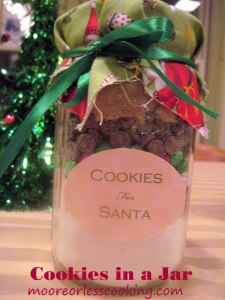 Christmas Cookies in a Jar - Moore or Less Cooking