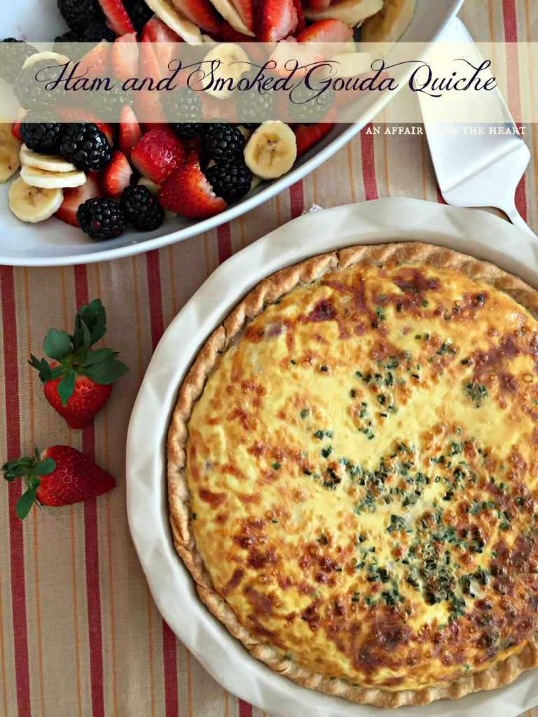 Ham and Smoked Gouda Quiche
