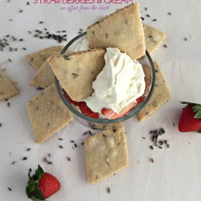 Lavender Shortbread {with strawberries & cream}