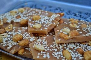 Salted Caramel Nut Brittle - Rebekah Rose