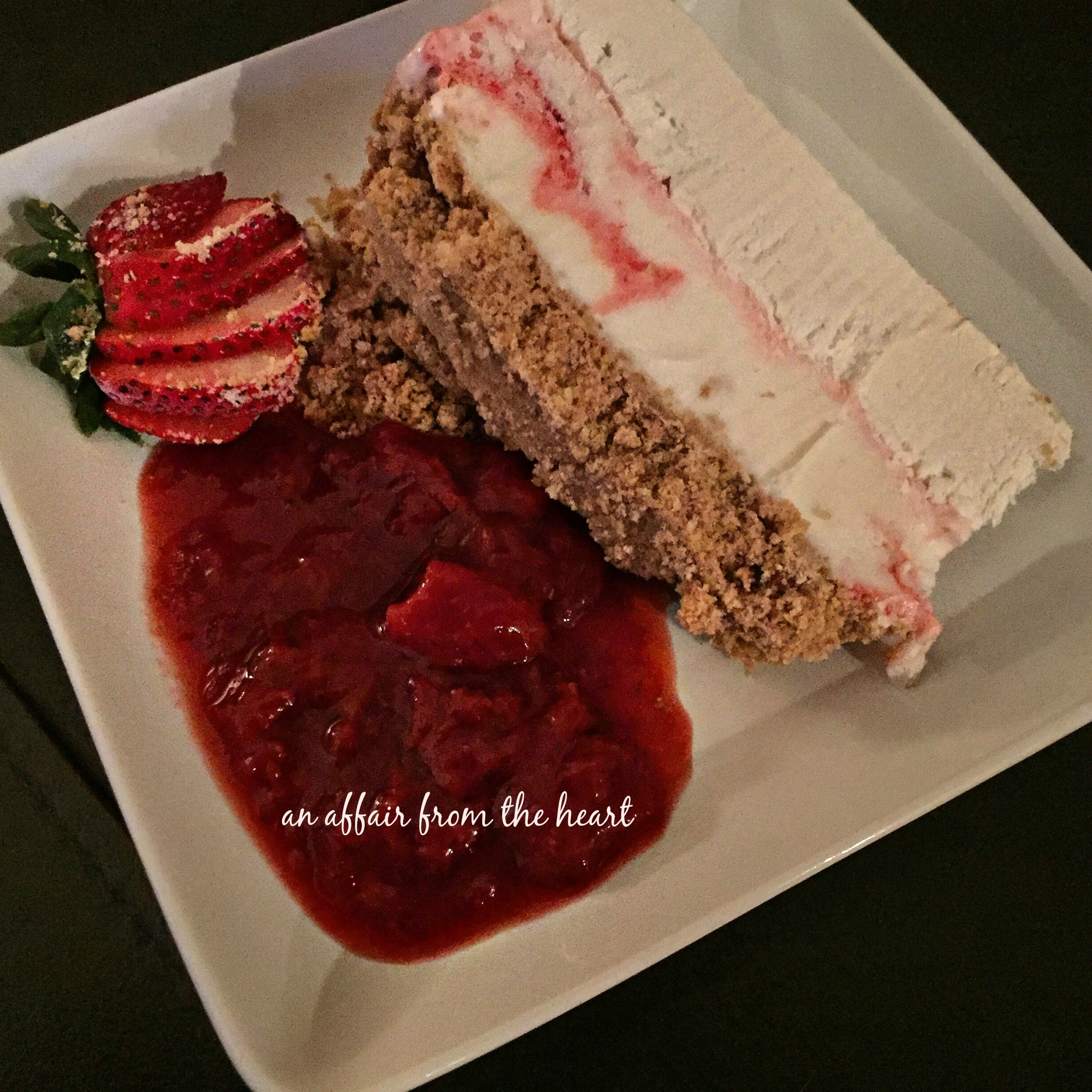 Strawberries Cream Torte Recipe: Strawberry Cheesecake Ice Cream Torte