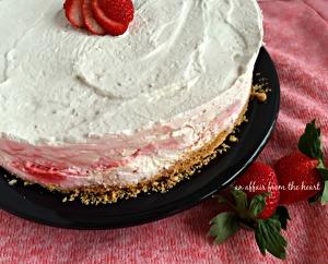 Strawberry Cheesecake Ice Cream Torte